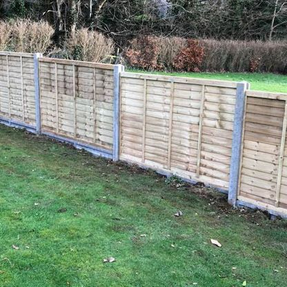 A customers fence panels and posts that we pressure treated.