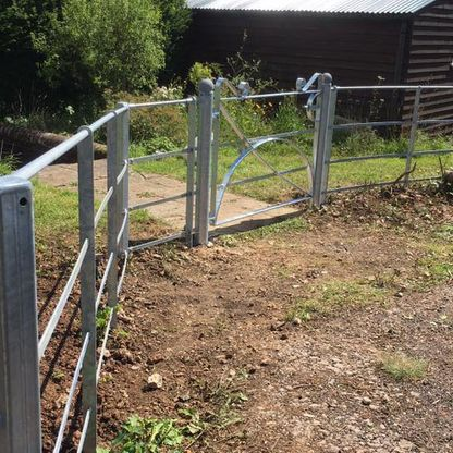 Estate fencing and gates that we erected.