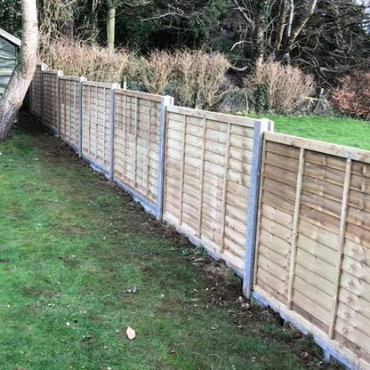 Fence panels and posts that we pressure treated.