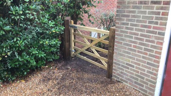 5 bar field gate that we installed.