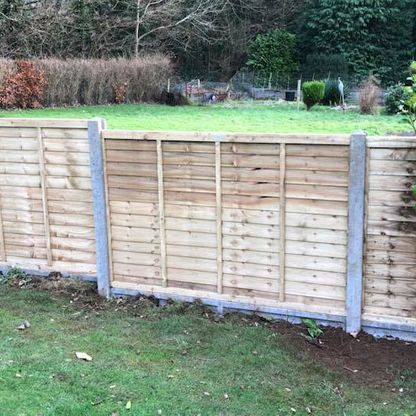 A customers fence that we pressure treated.