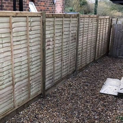 Fence panels that we pressure treated.