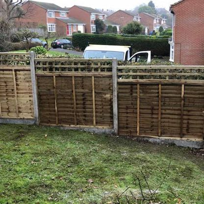 A customers fence panels that we pressure treated.