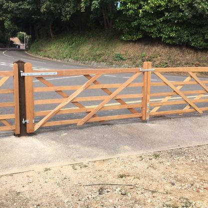 Iroko field gates that we erected for a customer.