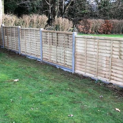 A fence that we pressure treated.